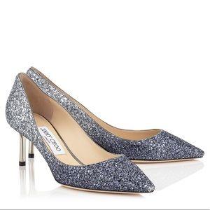 Jimmy Choo glitter romy 60 heels